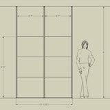 """""""A modern room divider wall system that is easy to install"""
