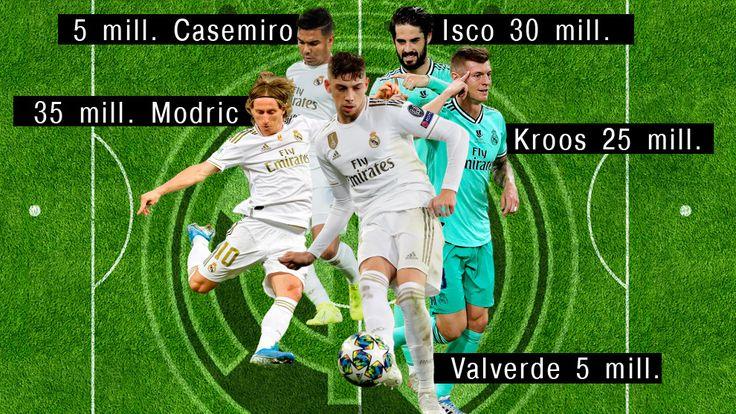 Real Madrid Modric, Isco, Kroos, Casemiro y Valverde, los