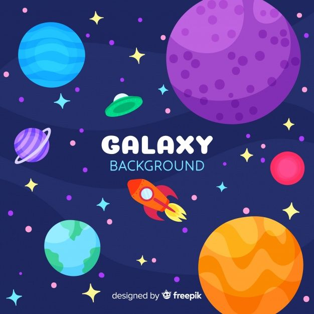 Download Lovely Galaxy Background With Flat Design For Free Galaxy Background Galaxy Flat Design