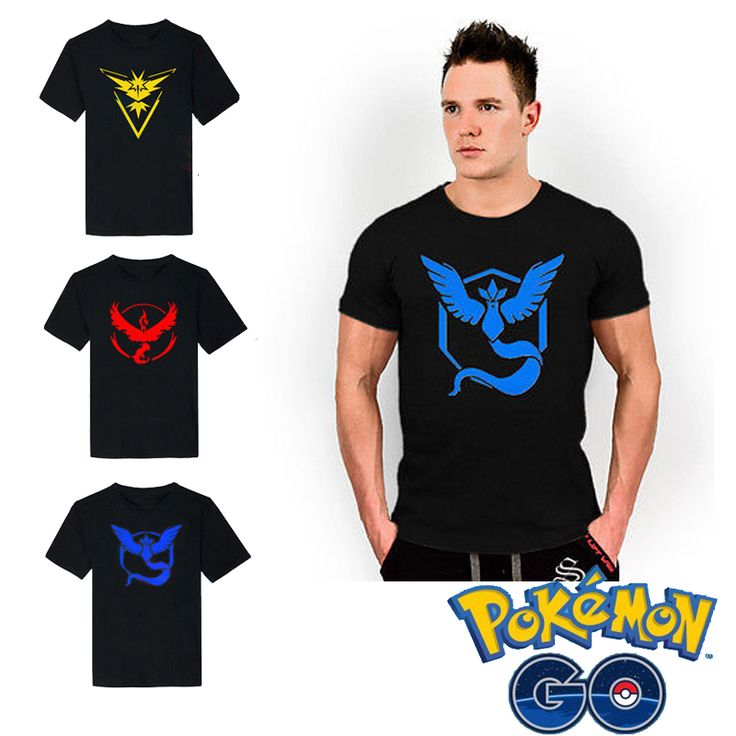 Free shipping Pokemon GO Pocket Monster APP Pokemon Game Camp T-shirt Cosplay Anime Cartoon Game Neutral Fans #Affiliate