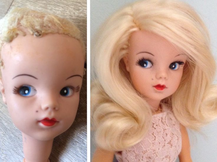 Side part Sindy now rerooted and restored