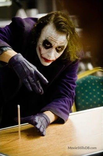 The Famous Pencil Trick   'The Dark Knight,' 2005