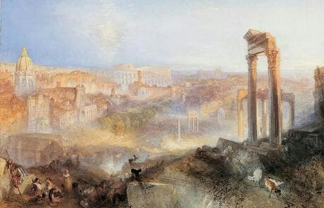 Modern rome-campo vaccino c.1839 by:j.m.w.turner