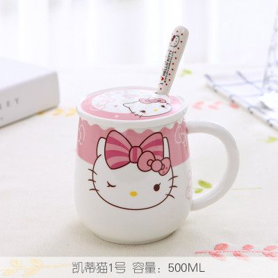 Hello, Kitty… Need a lidded mug with a cute cartoon character? Love the Hello Kitty universe? Check these out! Decorated with either Doraemon or Hello Kitty, these large-capacity mugs are perfect for