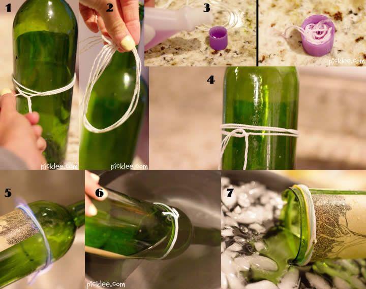 Aprende a cortar botellas de vidrio