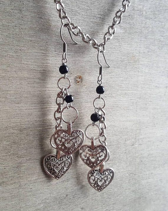 Hey, I found this really awesome Etsy listing at https://www.etsy.com/listing/591327635/heart-shaped-earrings-silver-colored