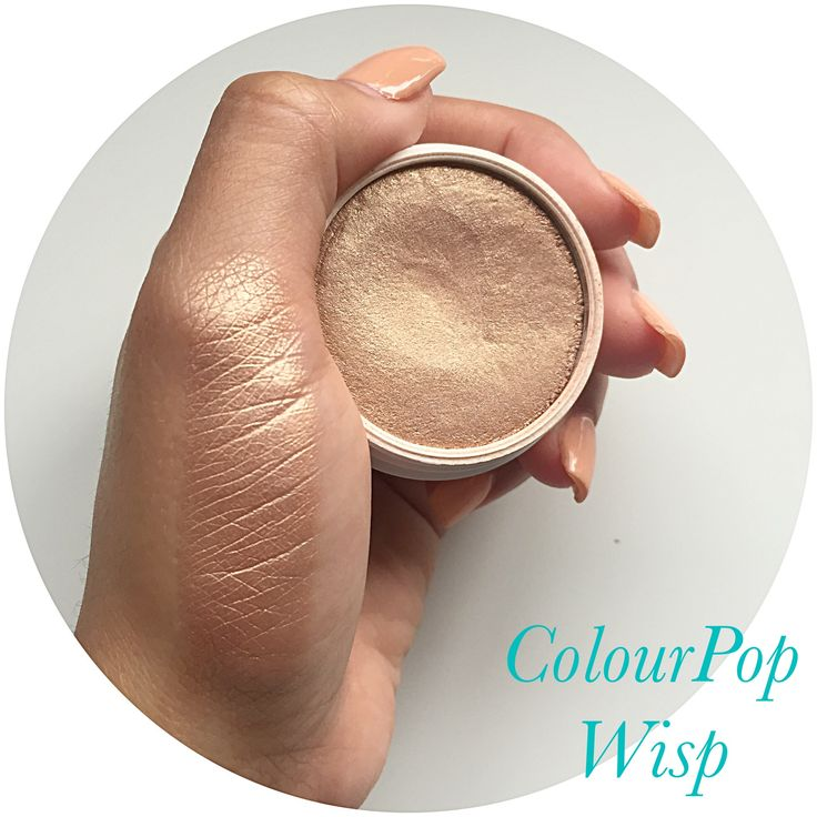 colourpop wisp highlight is one of the best highlights for the natural glow and sheen to the skin and for only $8 its amazing!!! for more awesome product reviews and swatches click on the photo and check out my beauty account on Instagram