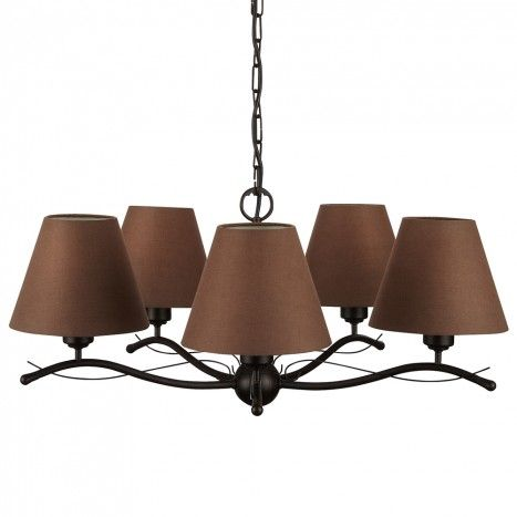 Philips myliving elmore 5 light ceiling pendant with shades brown from litecraft