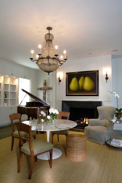 Houston Interior Designer Linda Eyles Does A Beautiful Music Room For Her Client