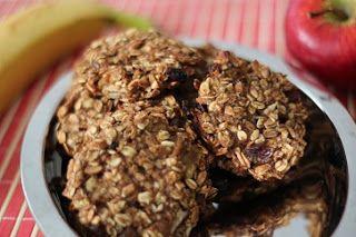 Owsiane ciasteczka bananowo - jabłkowe | Zdrowe Przepisy Pauliny Styś
