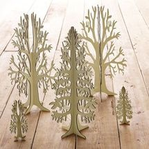 I want a forest of this wooden cut out trees for the holidays.