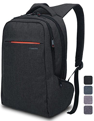 Lapacker 156 Anti Theft Slim Water Resistant Laptop Backpack Bag for MenWomen Lightweight Business Travel College Computer Backpacks for Laptop in Black >>> Be sure to check out this awesome product. (Note:Amazon affiliate link)