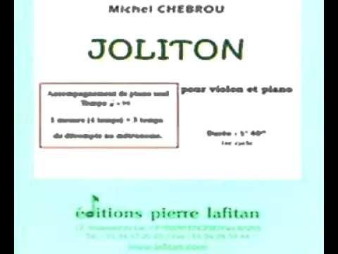 Accompagnement de piano de «Joliton» pour violon et piano de Michel Chebrou