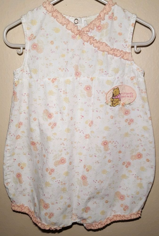 8c265e8025d Baby Disney s Romper Sincerely Pooh sz 24 Months Pale Pink Floral Ruffle   fashion  clothing  shoes  accessories  babytoddlerclothing   girlsclothingnewborn5t ...