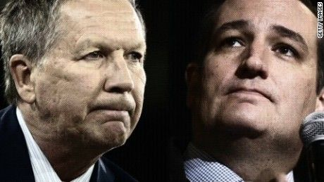 Ohio Gov. John Kasich and Texas Sen. Ted Cruz said Monday the rationale for their decision to coordinate campaign strategy -- for now -- is an effort to stop Donald Trump from winning the Republican nomination because they fear he would lose to Hillary Clinton in a general election matchup.