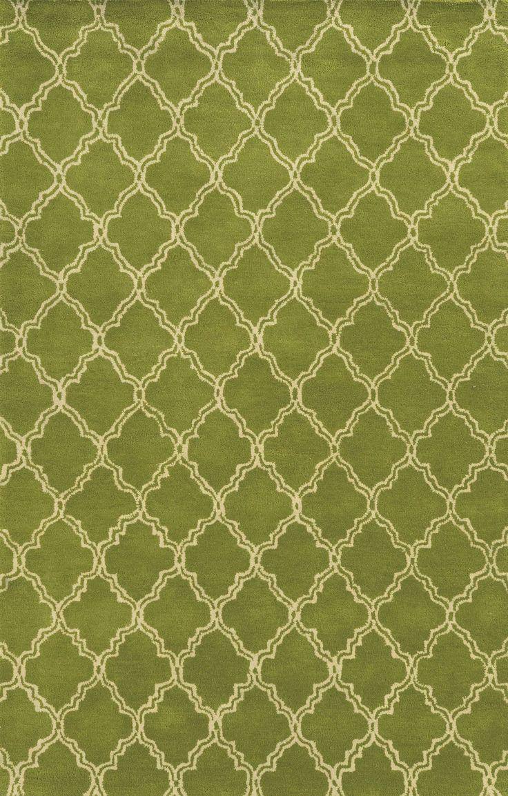 Progreso Hand-Tufted Green Area Rug