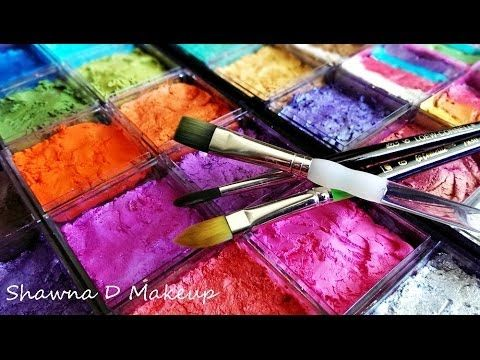 How to set up your face painting kit - YouTube. Can't stand her babbling about the obvious, but LOVE her setup. Time to hit the Container Store