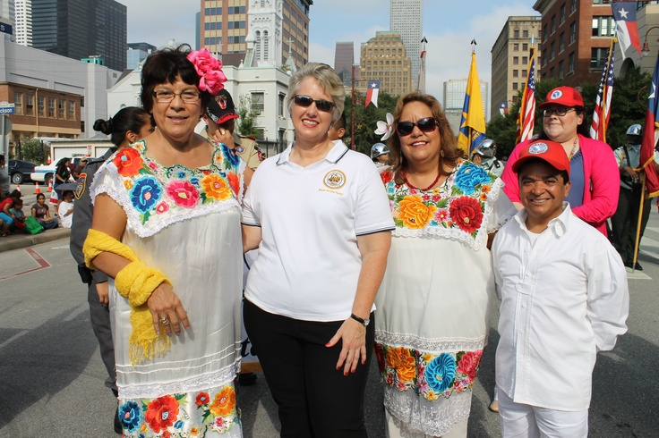 Houston Community College students and Trustee Eva Loredo took part in the Fiestas Patrias Parade on Sept. 15 in Downtown Houston. Dr. Irene Porcarello, HCC Southeast College President was honored as the 2012 Distinguished Hispanic of the Year. #HCC