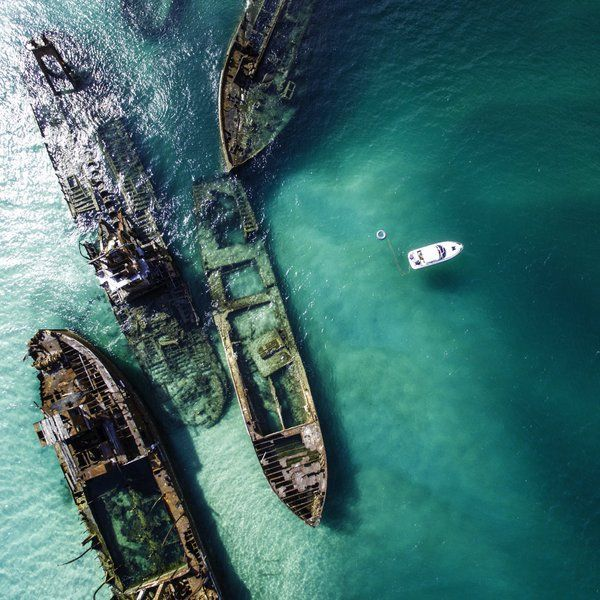 The Tangalooma Wrecks, Moreton Island, Australia | Photo by Piotr Parzybok