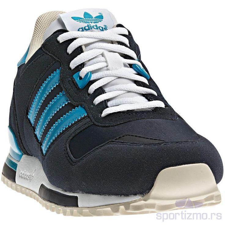 Adidas zx ženske patike, tamno plave boje, sa svetlo plavim detaljima.  Izrađene su