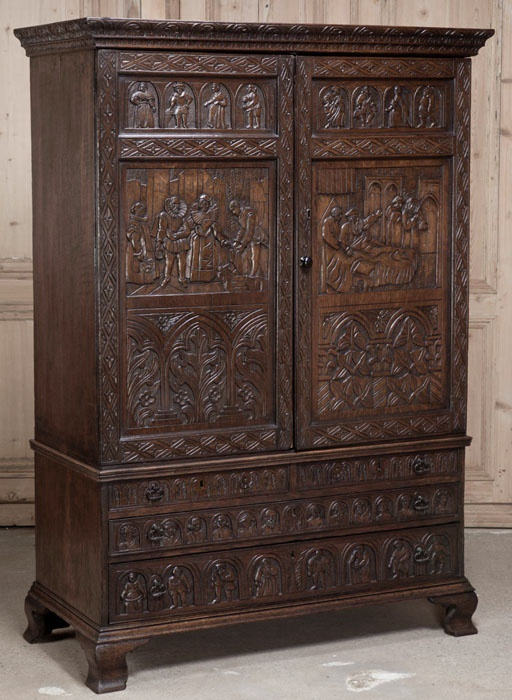 antique old english country armoire chamber room. Black Bedroom Furniture Sets. Home Design Ideas