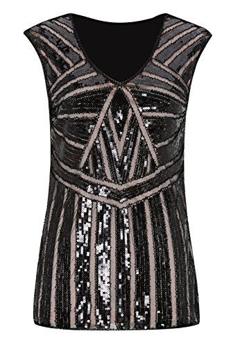 a99331ce New Metme Women V Neck Slight Loose Flashy Sequin Sparkly Vest Tops Tank  Tops. Christmas Clothing [$17.99 - 23.99] from top store  yourfavoriteclothing