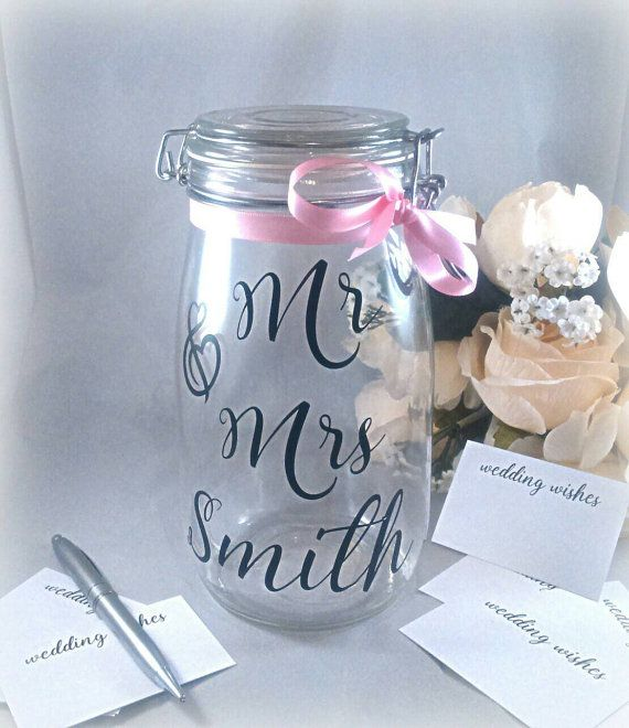 Check out this item in my Etsy shop https://www.etsy.com/uk/listing/267801518/wedding-jar-wedding-guest-book-wedding