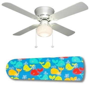 """Whale of a Good Time 42"""" Ceiling Fan and Lamp - eclectic - Ceiling Fans - New Image Concepts"""