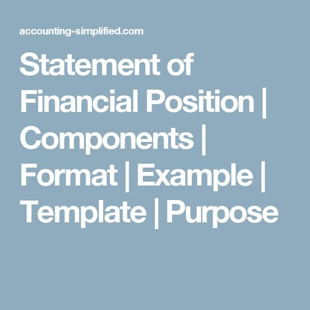 statement of financial position example