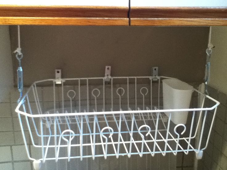 27 diy tricks to master your kitchen kitchen hacks dish drainers and drying racks - Kitchen sink drying rack ...