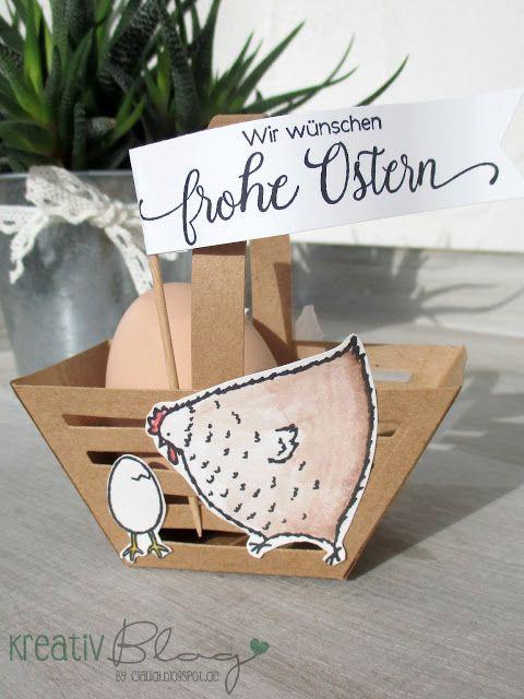 Kreativ Blog by Claudi: Osterkörbchen mit der Sechseck-Box