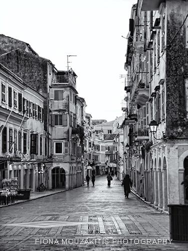 MONDAY MORNING. Street view Corfu Town Corfu Greece