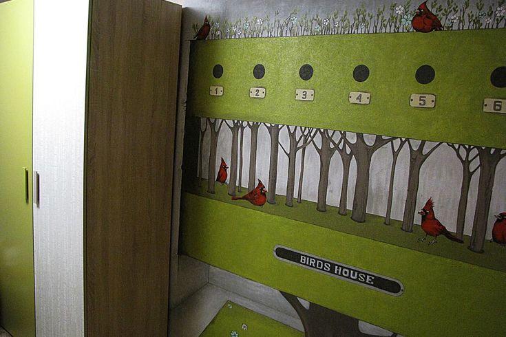 Роспись стен в детской, техника росписи стен, роспись стен в детском саду -Дизайн интерьера