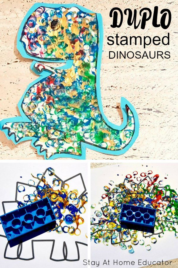 Make Stamped Dinosaur Art with Preschoolers and Toddlers Claudia Vela