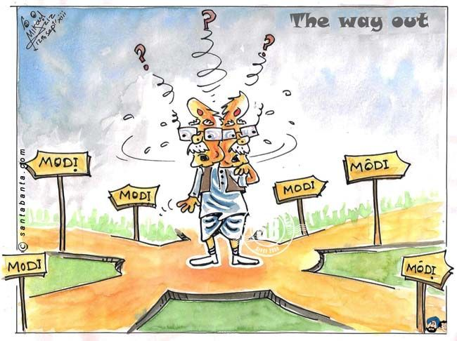 Advani-jee... All roads lead to Narendra Modi, It`s touhg to select.....