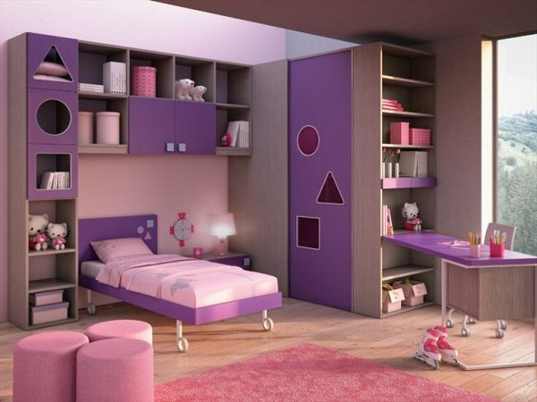 Little Girl Pink And Purple Room Designs Pink And Purple Girls .