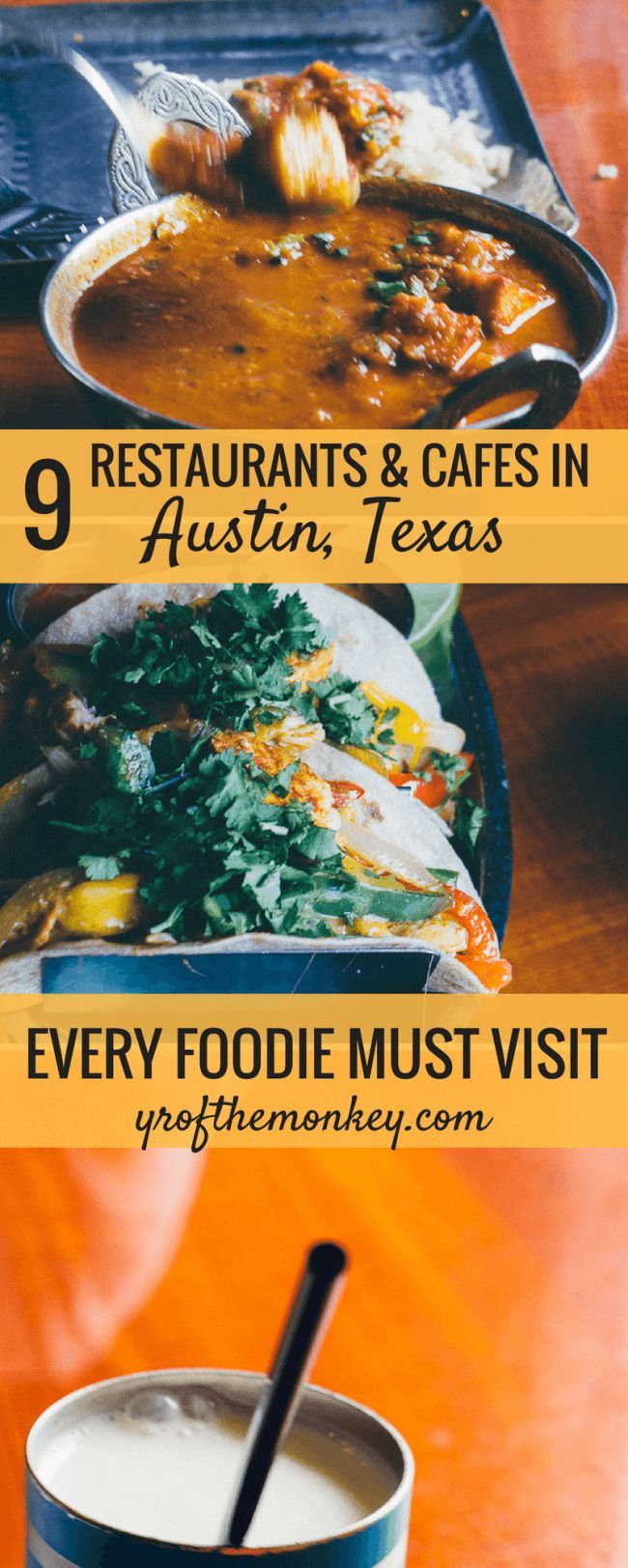 This is an alternate Austin Texas USA dining guide which goes beyond the barbecue and showcases 9 diverse and best restaurants in Austin. This Austin food guide includes vegetarian and ethnic options and tells you where to eat in Austin for breakfast, lunch and dinner. Don't miss reading this culinary Austin guide if you are a foodie. Pin it to your USA board for a lipsmacking food tour! #foodguide #austin #usatravel #restaurants #vegetarian