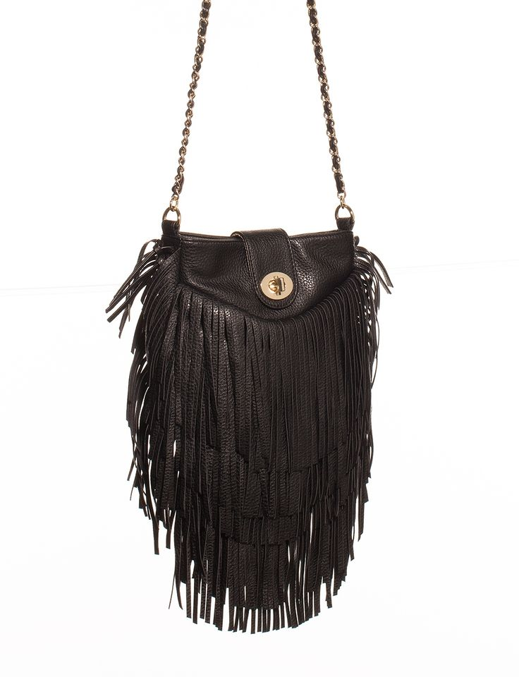 Fringed Crossbody Purse | Women's Handbags | THE LIMITED #BlackFringePurse #TheLimited