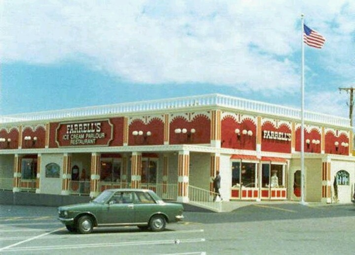 Farrells Ice Cream Parlor, where I got a 1st place ribbon for eating the Pig Trough , (about 1977), Grand Rapids, MI