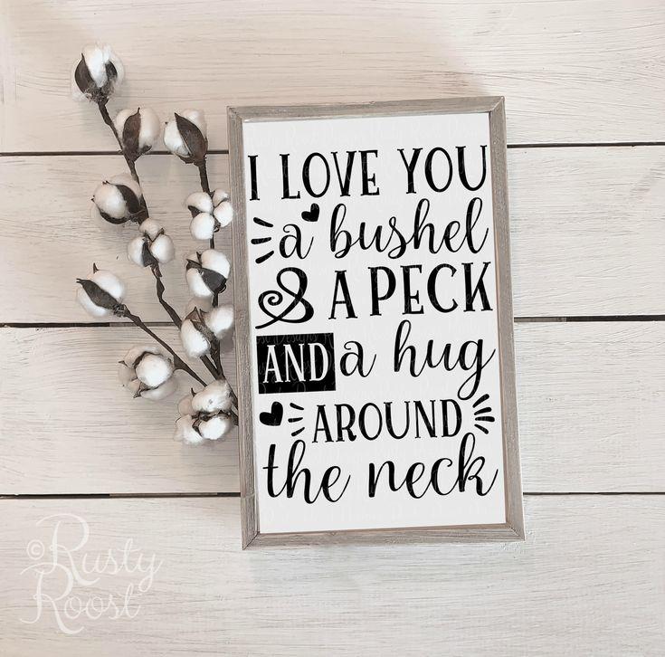 Download I love you a bushel and a peck SVG;I love you a bushel and ...