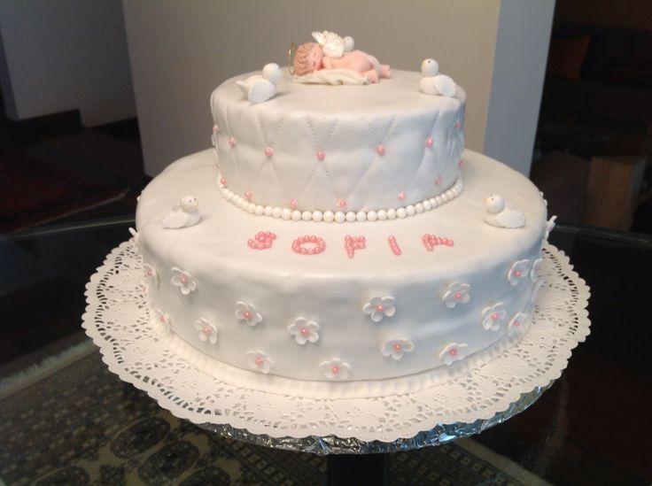 Torta de bautizo para ni a ideas para bautismos pinterest for Decoracion de tortas para ninas