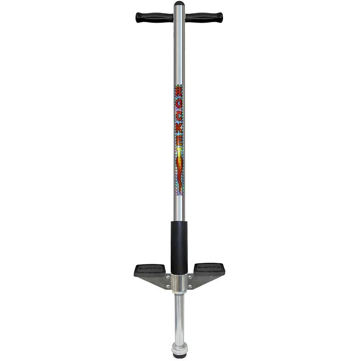 Flybar Maverick Liquid Chrome Rocket Pogo Stick, Multicolor