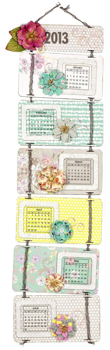 Prima Hello Pastel Flip Calendar