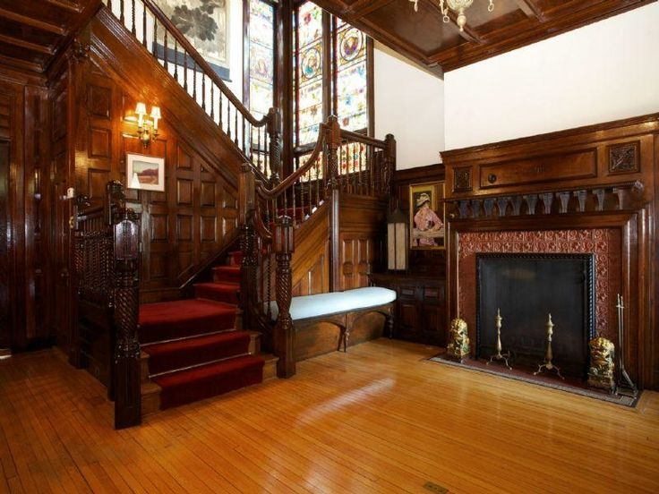 Old World, Gothic, and Victorian Interior Design. Want this stairway