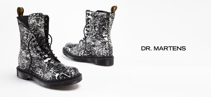 Dr. Martens -   Flannel shirts. Grunge music. And Dr. Martens. The '90s are making a comeback and all the cool kids are once again wearing the iconic shoe. Here, a selection of new treatments give this beloved brand's styles a modern edge. In addition to the classic lace-up boot, you'll find oxfords, basic flat...  #Boot, #Bootie, #Cap, #Laceup, #Pin, #Pullon, #Sneaker, #Wedge