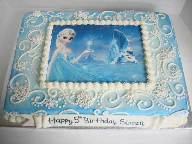 Frozen! sheet cake
