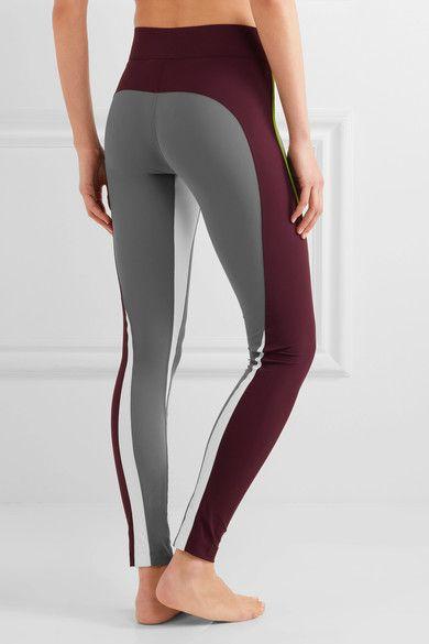 No Ka'Oi - Kimi Color-block Stretch-jersey Leggings - Gray - 1