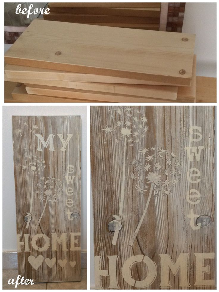 7 migliori immagini scritte sul legno su pinterest idee - Scritte in legno shabby ...