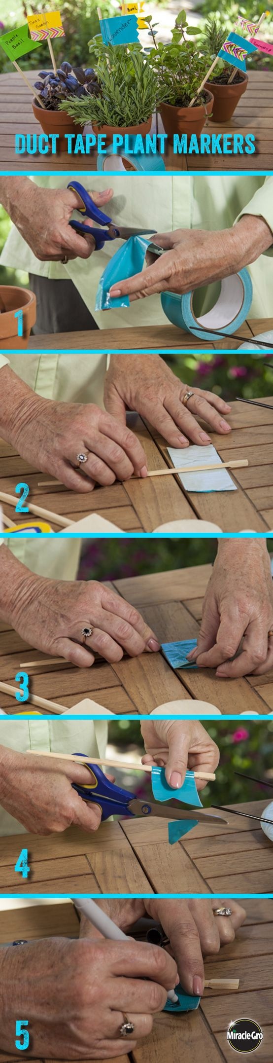 #DIY duct tape plant markers make #entertaining easy colorful. Catch the steps at the 2:15 mark.