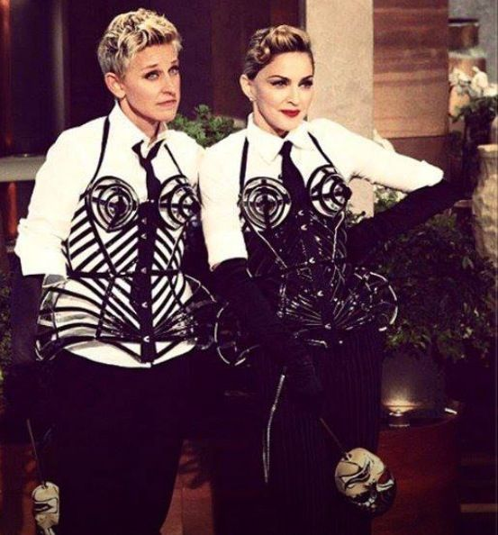 madonna at the ellen degeneres show.